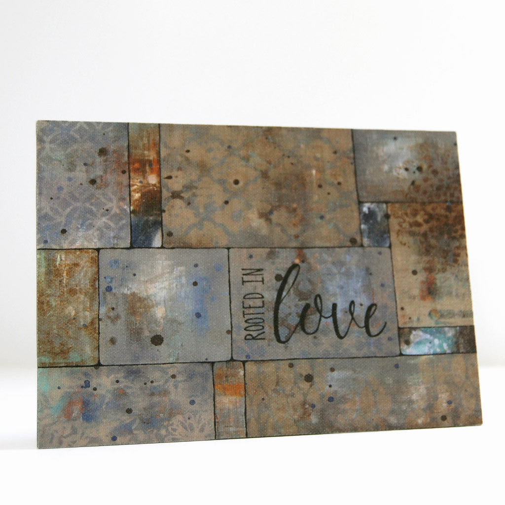 rooted in love faith canvas art