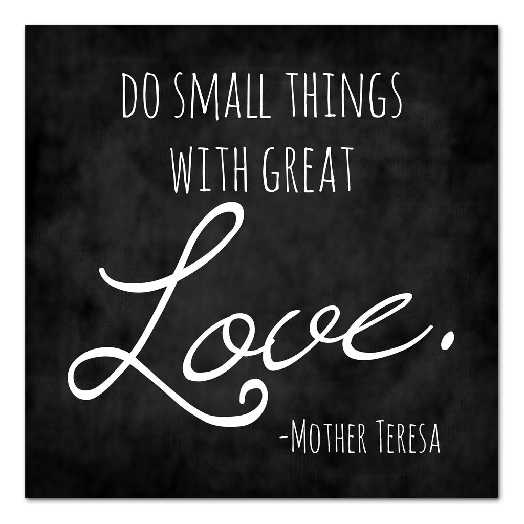 small things with great love mother teresa quote art