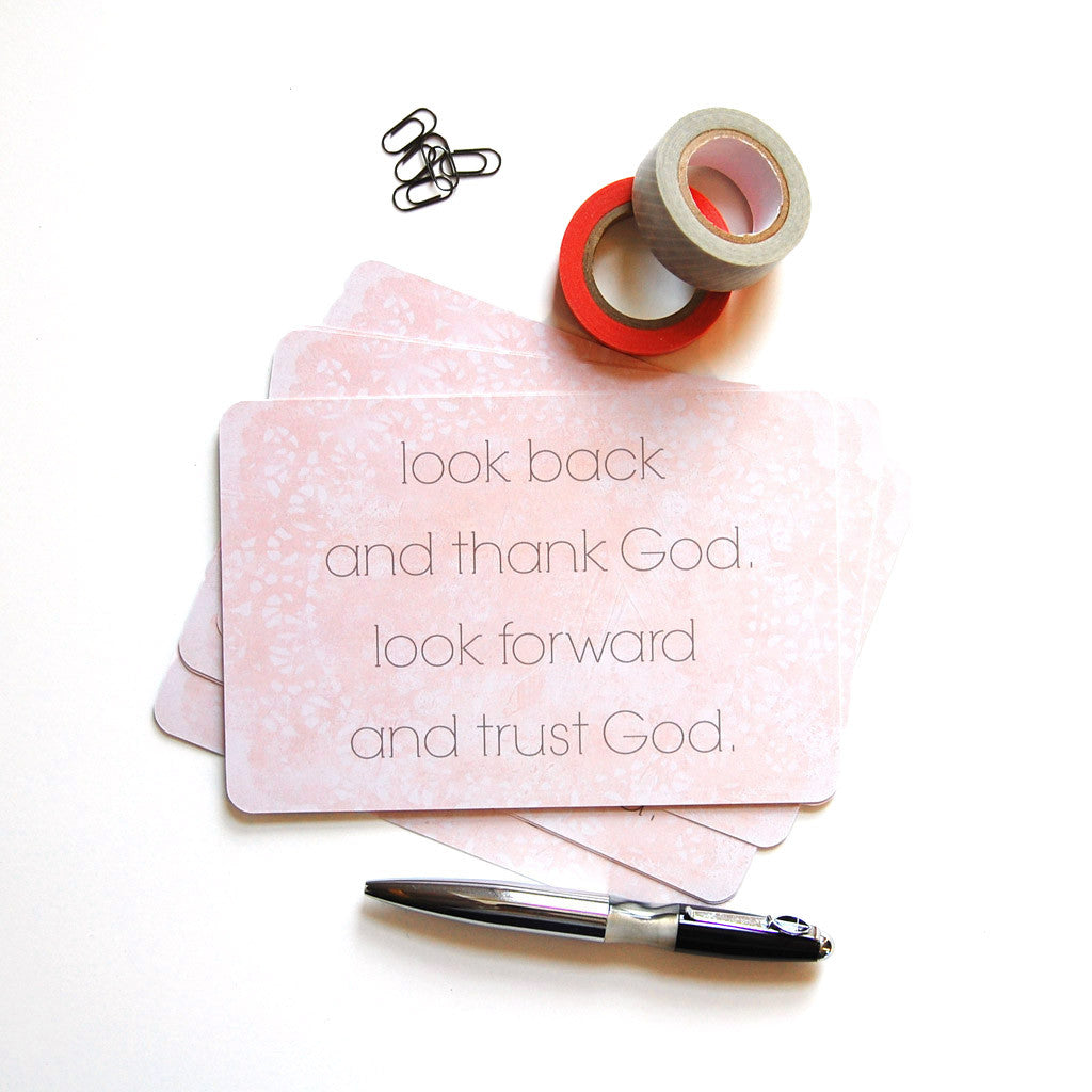 thank God trust God postcards