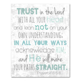 trust in the Lord scripture art