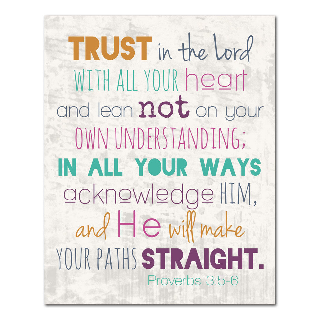 trust in the Lord 11x14 proverbs scripture art