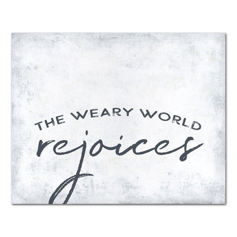 Weary World Rejoices (white)