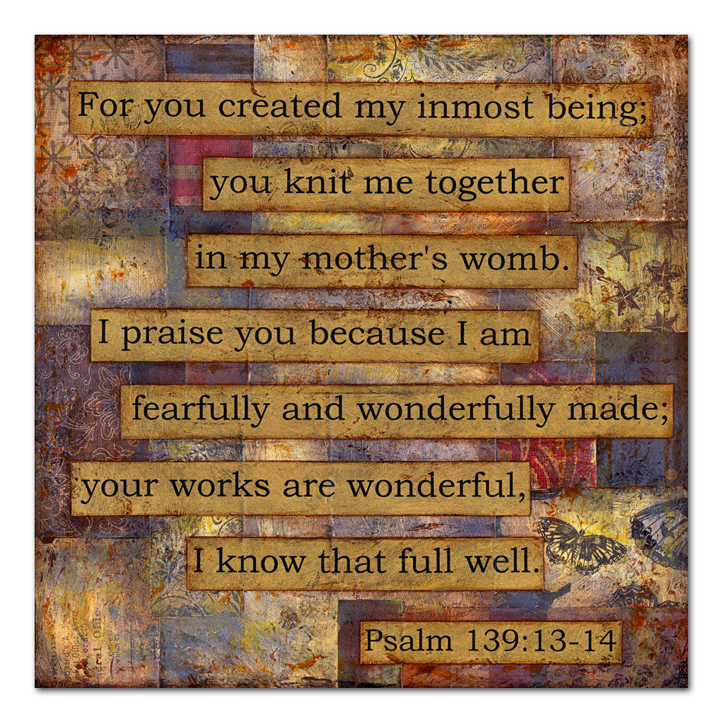 Psalm 139 scripture art