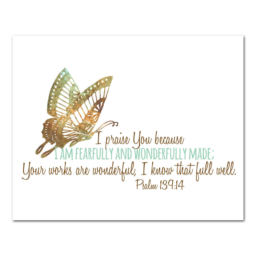 fearfully and wonderfully made psalm scripture art