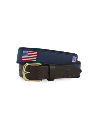 American Flag Canvas Club Belt
