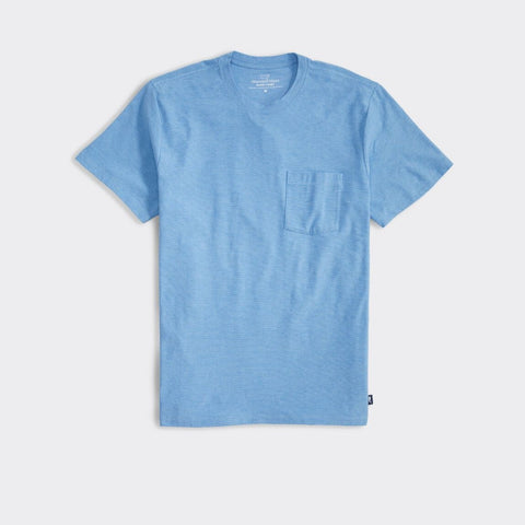 Edgartown Seawall PKT T Shirt Jake Blue
