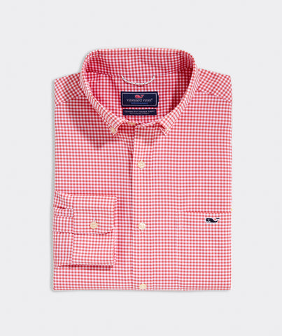 Classic Fit Reef OTG Tucker Button Down in Jetty Red