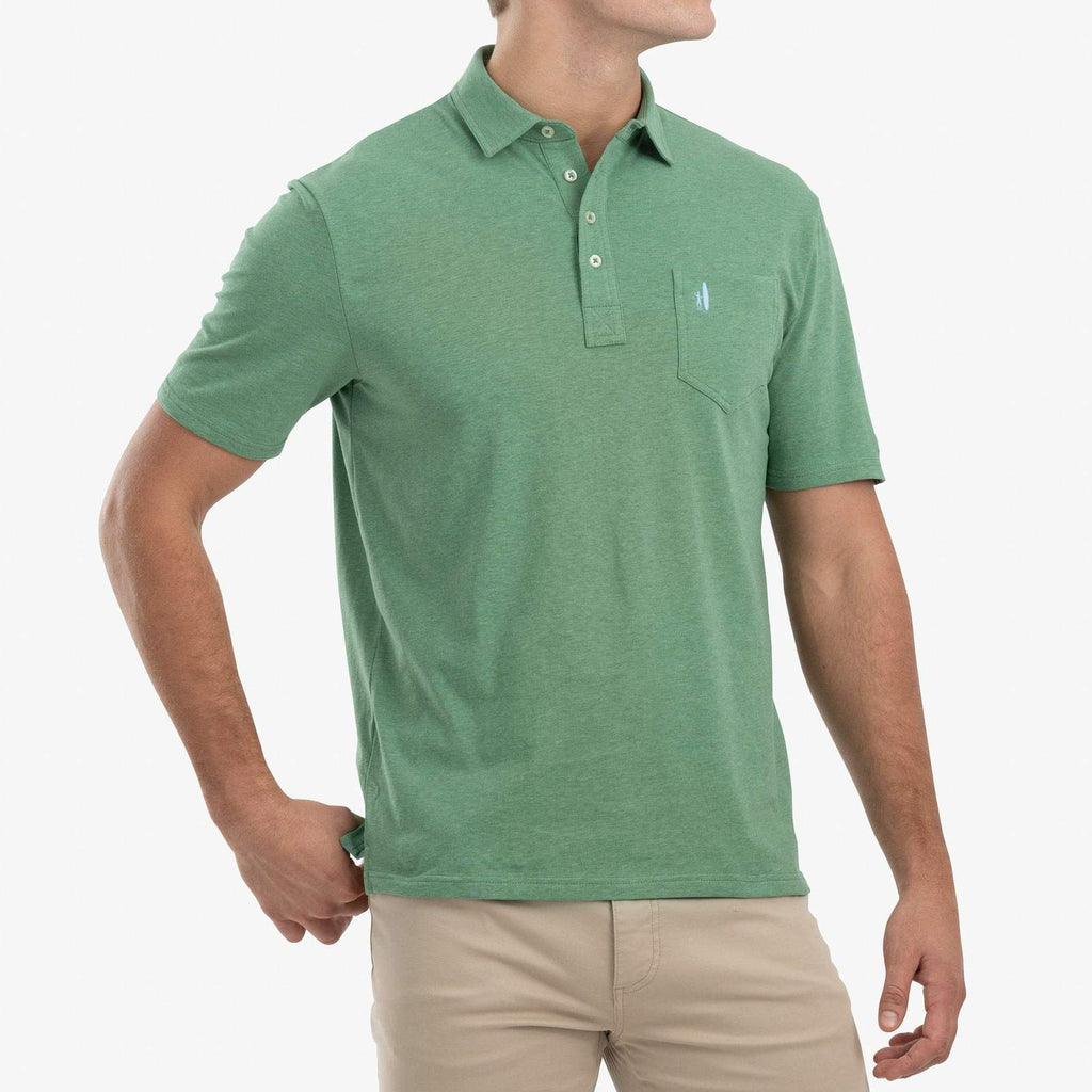 Heathered Original Polo in Lucky