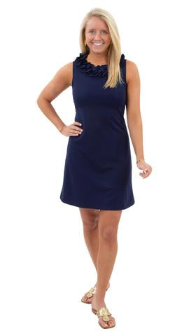 Navy Sleeveless Cricket Dress