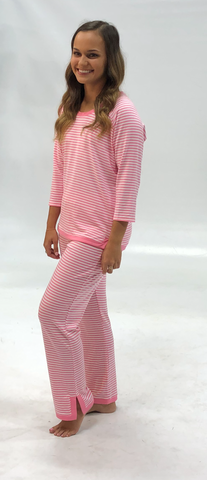 Pink Lemonade Stripe Lisa Top with Sandy Pant