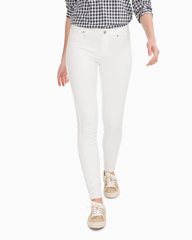 White Stretch  Slim Fit Jeans