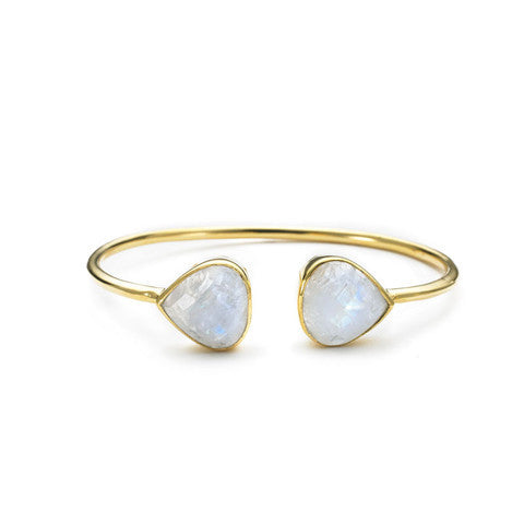 Moonstone Teardrop Bangle