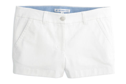 White Leah Shorts