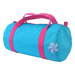 Aqua & Hot Pink Nylon Duffel