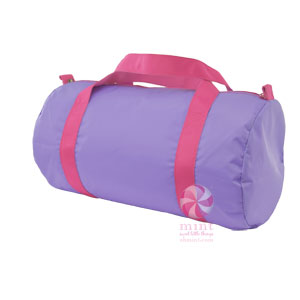 Lilac & Hot Pink Nylon Duffel