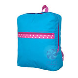 Aqua Polka Dot Medium Backpack
