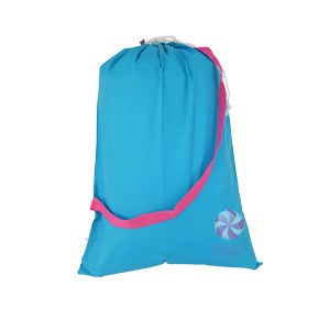 Aqua & Hot Pink Catch-All Laundry Bag