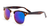 Tortoise Shell Green Mirrored Clubmaster Sunglasses - Hamilton