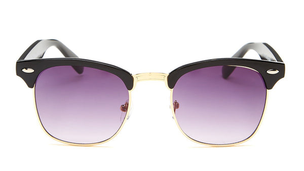 Black and Gold Clubmaster Sunglasses - Hamilton