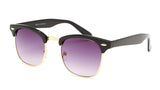 Gold and Black Clubmaster Sunglasses - Hamilton