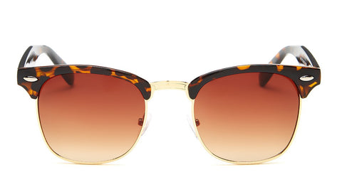 Brown Tortoise Shell Clubmaster Sunglasses - Hamilton