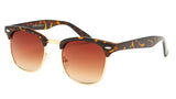 Tortoise Shell Brown Clubmaster Sunglasses - Hamilton