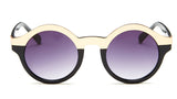 Round Black and Gold Sunglasses - Hudson