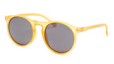 Round Yellow Frame Sunglasses - Venice