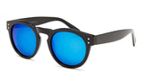 Black Frame Blue Mirror Sunglasses - Florence