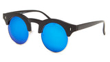 Round Blue Mirrored Sunglasses - Formentera