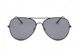 Black Frame Aviator Sunglasses - Miramar