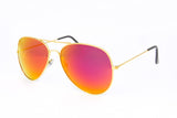 Aviator Red Mirror Sunglasses in Gold - Miramar