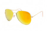 Aviator Yellow Mirror Sunglasses in Gold - Miramar