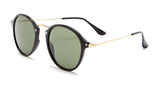 Round Black and Gold Sunglasses - Santorini