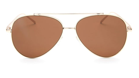 Gold Frame Brown Lens Aviator Sunglasses - Coronado
