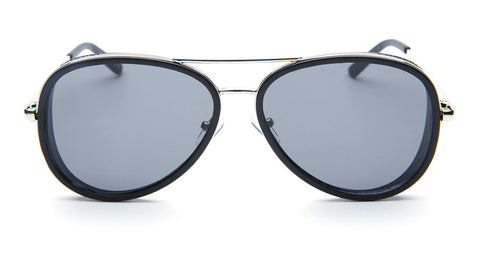 Dark Black Aviator Sunglasses - Del Mar