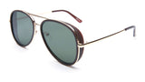 Gold and Black Aviator Sunglasses - Del Mar