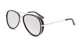 Black Frame Classic Aviator Sunglasses - Del Mar