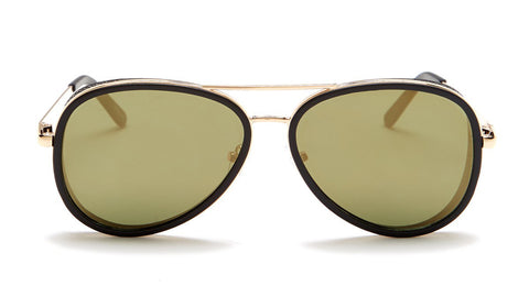 Gold Mirror Aviator Sunglasses - Del Mar