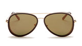 Brown and Gold Aviator Sunglasses - Del Mar