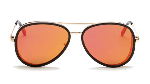 Red Mirrored Aviator Sunglasses - Del Mar