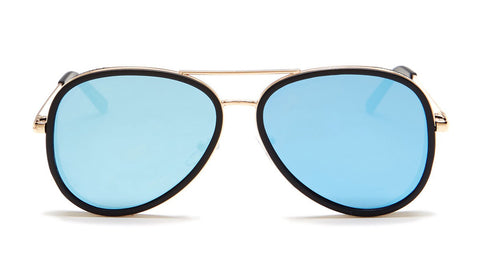 Blue Mirror Aviator Sunglasses - Del Mar