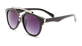 Black and Silver Round Sunglasses - Bacara