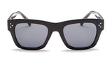 Thick Black Frame Wayfarer Sunglasses - Ojai
