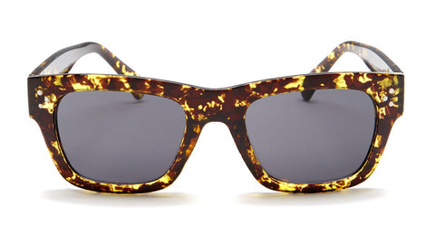 Yellow Tortoise Shell Wayfarer Sunglasses - Ojai