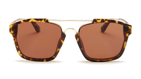 Gold and Yellow Aviator Tortoise Shell Sunglasses - Napa