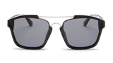 Silver and Black Frame Aviator Sunglasses - Napa
