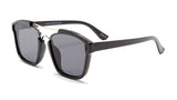 Frame Aviator Silver and Black Sunglasses - Napa