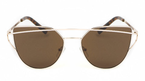 Metal Gold Cat Eye Sunglasses w/ Tortoise - Sonoma