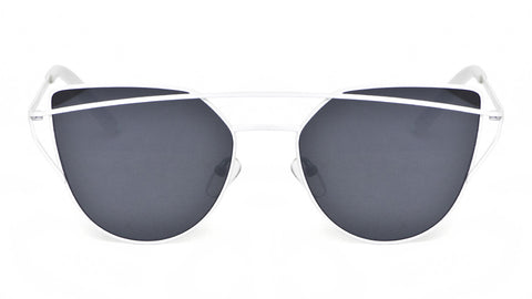 Metal Black and White Cat Eye Sunglasses - Sonoma